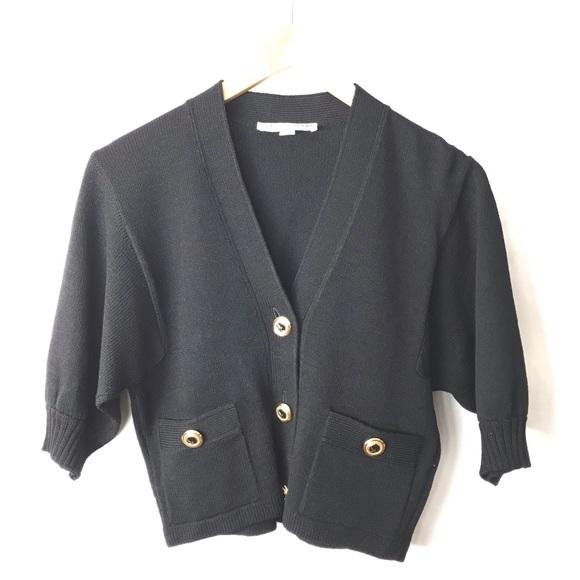 St. John Sweaters - St. John Santana knit cropped cardigan sweater S